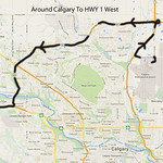 Assuming you are flying into Calgary, take the Stony Trail